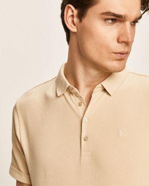 T-shirt bawełniany zapinane na guziki Clean Cut Copenhagen
