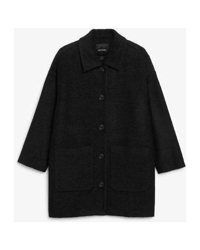 Черная куртка на пуговицах Monki