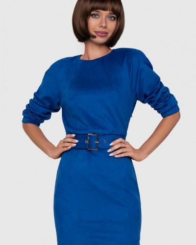 Кожаное синее платье Anushka By Anna Pavlova