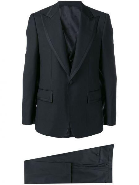 Czarny smoking z wiskozy z długimi rękawami Dolce And Gabbana
