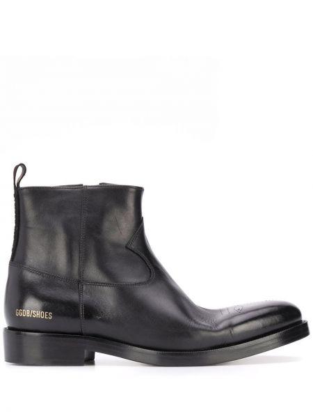 Buty skórzane kowboj czarne Golden Goose