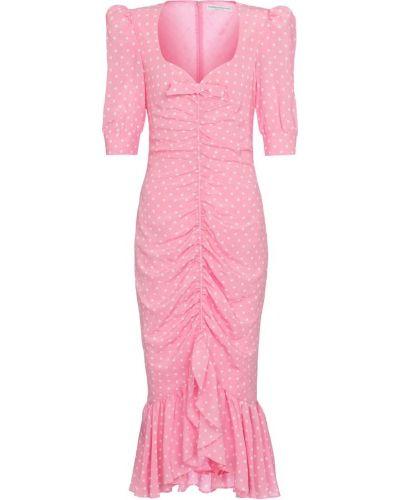 Шелковое розовое платье миди винтажное Alessandra Rich