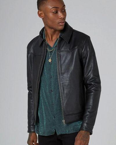 Куртка осенняя кожаная Topman
