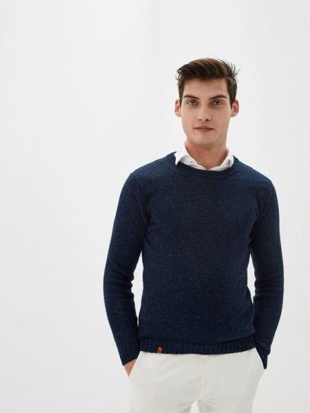 Синий свитер Knitman