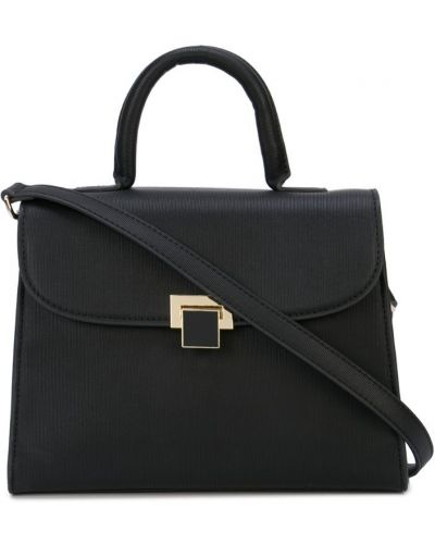 Черная сумка на плечо круглая Christian Siriano