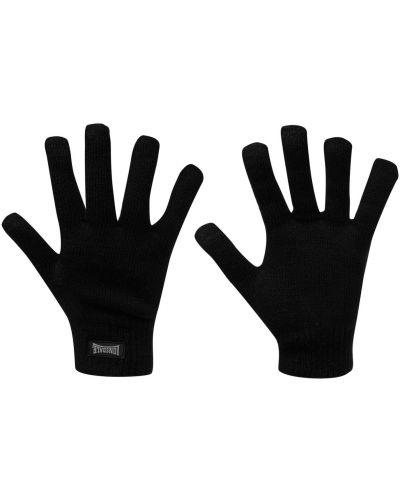 Prążkowane czarne rękawiczki z akrylu Lonsdale