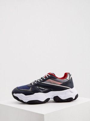 Синие кроссовки Trussardi