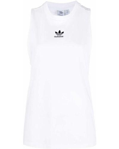 Biała kamizelka bez rękawów bawełniana Adidas