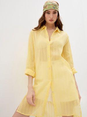 Пляжное желтое платье Pilyq