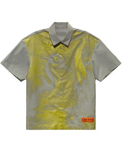 Szary koszula z łatami Heron Preston