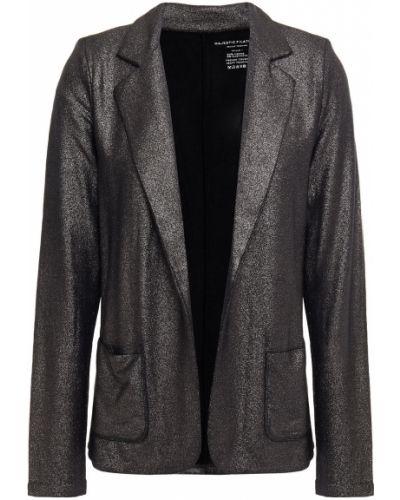 Открытый черный пиджак с карманами Majestic Filatures