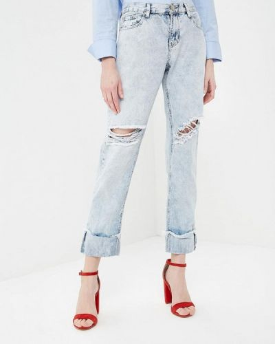 Голубые рваные джинсы Glamorous