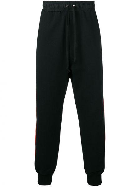 Prążkowane czarne joggery bawełniane Damir Doma