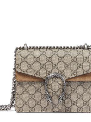 Beżowy skórzany mini torebka Gucci