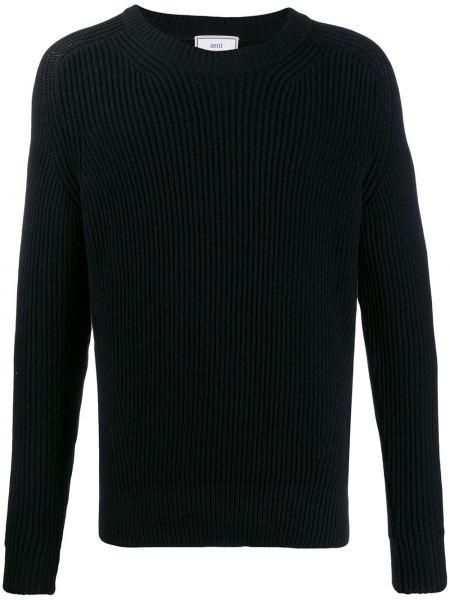 Вязаный свитер - черный Ami Paris