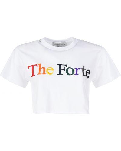 Хлопковая футболка - белая Forte Couture