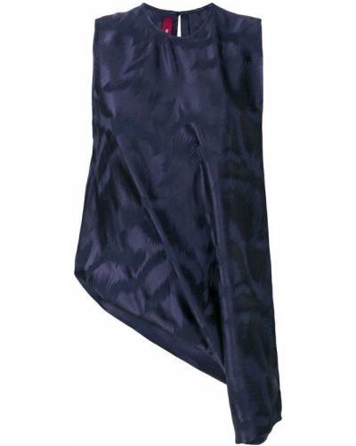 Блузка без рукавов шелковая асимметричная Sies Marjan