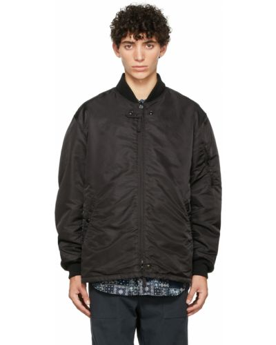 Бомбер атласная - черная Engineered Garments