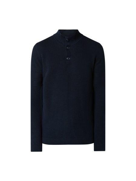 Bawełna bawełna niebieski bluzka z kołnierzem S.oliver Red Label