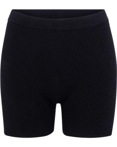 Черные короткие шорты из вискозы Jacquemus