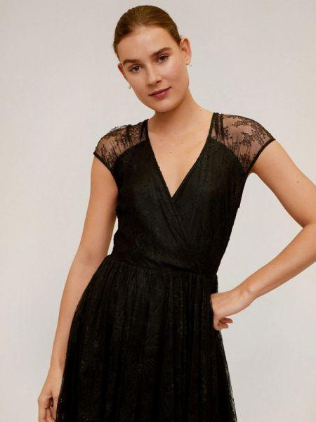 Вечернее платье черное весеннее Mango