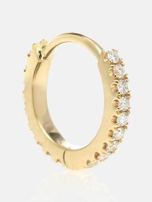 Złote kolczyki z diamentem Maria Tash
