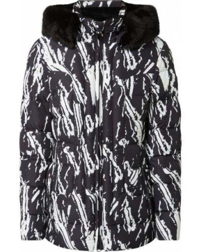 Czarny wodoodporny kurtka z kapturem z mankietami z zamkiem błyskawicznym Wellensteyn