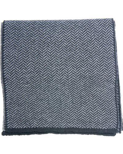 Серый шарф шерстяной Lagerfeld