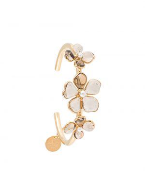 Złota bransoletka ze złota pozłacana perły Mulberry