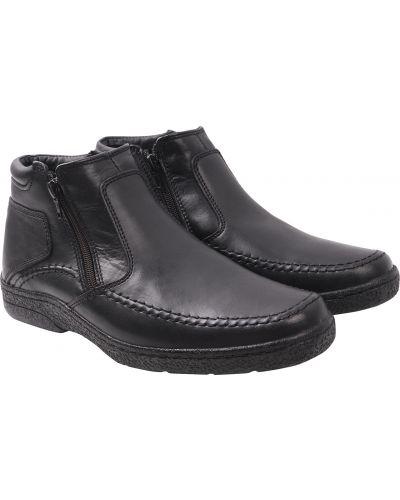 Кожаные ботинки - черные Konors