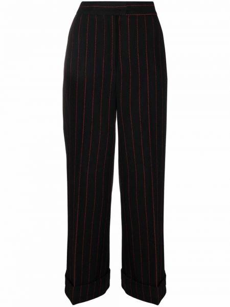 Шерстяные брюки - черные Alberto Biani