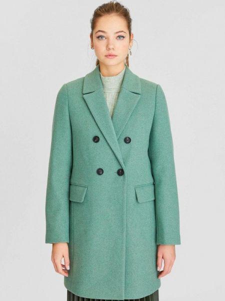 Пальто бирюзовый пальто Stradivarius