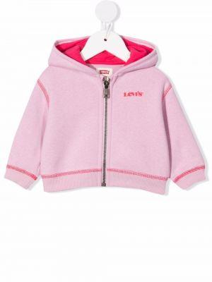 Różowa bluza bawełniana Levis Kids