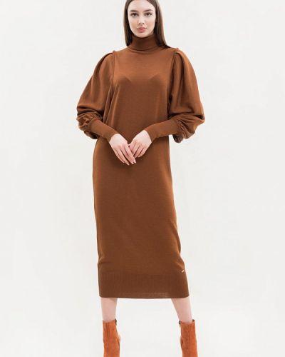 Платье свитер - коричневое Maxa