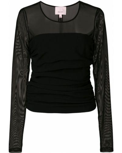 Блузка с длинным рукавом черная Cinq A Sept