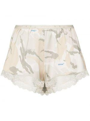 Ażurowy biały szorty na sznurowadłach Off-white