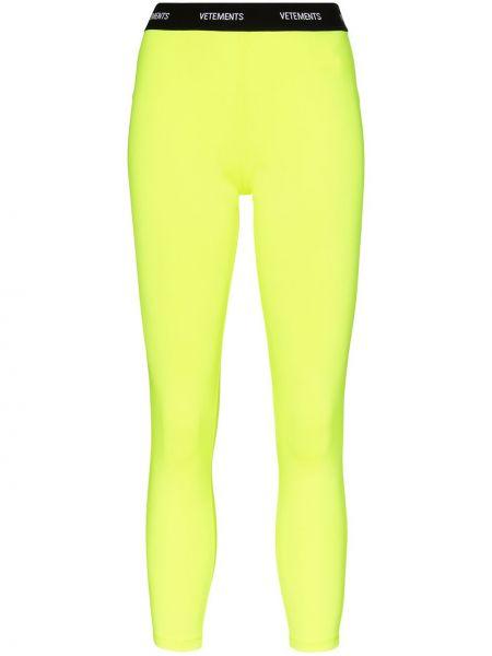 Желтые брюки с поясом Vetements