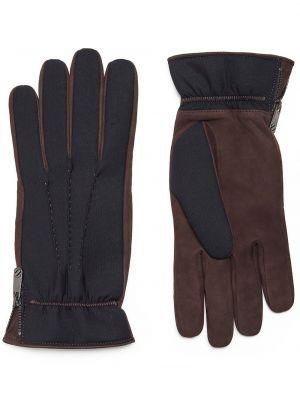 Z kaszmiru rękawiczki - niebieskie Ermenegildo Zegna