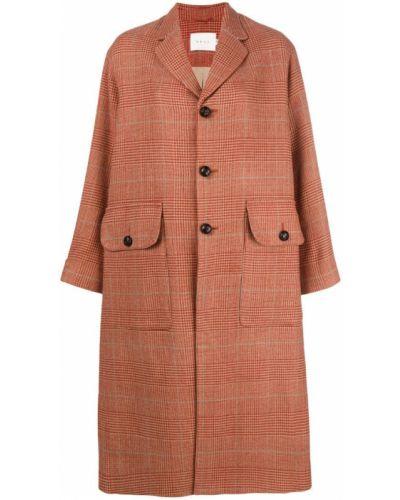 Длинное пальто на кнопках шерстяное Neul