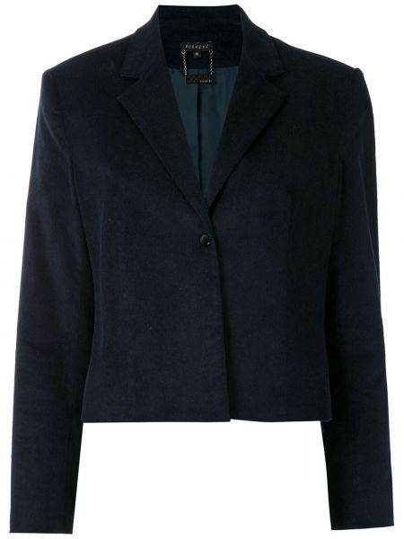 Синий пиджак вельветовый на пуговицах Alcaçuz