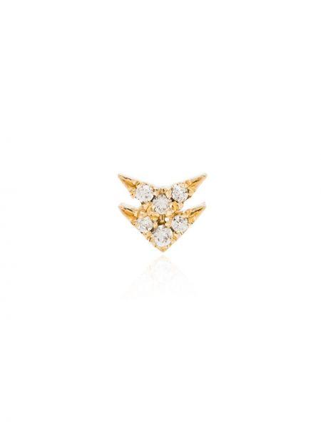 Со стрелками золотистые желтые золотые серьги с бриллиантом Lizzie Mandler Fine Jewelry