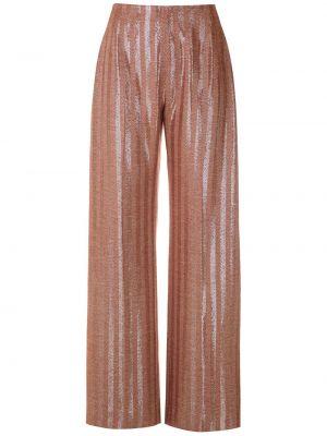 Шелковые красные прямые брюки с высокой посадкой à La Garçonne
