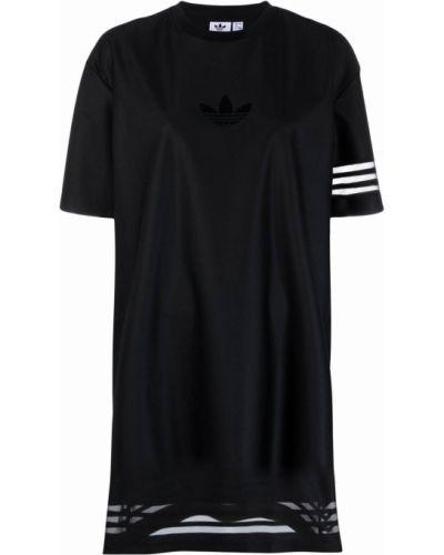 Платье мини короткое - черное Adidas
