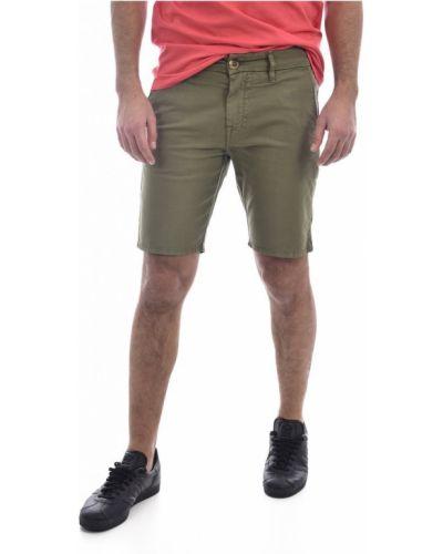 Zielone bermudy jeansowe bawełniane Guess