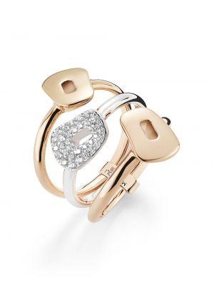 Różowy złoty pierścionek z diamentem Mattioli