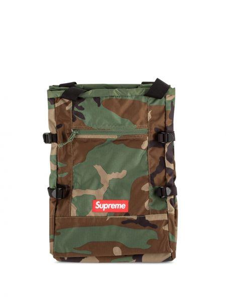 Czarny torba na ramię z nylonu oversize Supreme