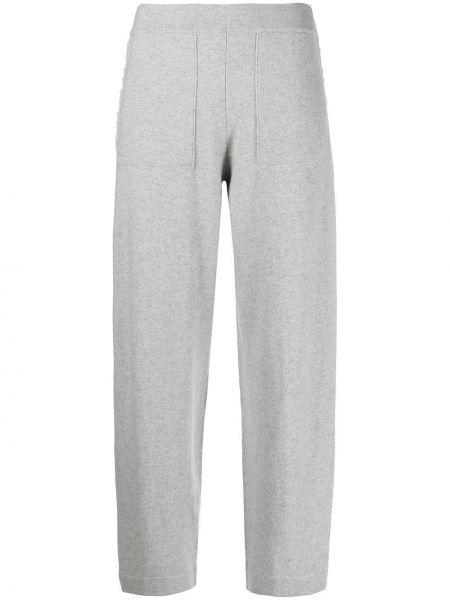 Кашемировые вязаные серые брюки Iris Von Arnim