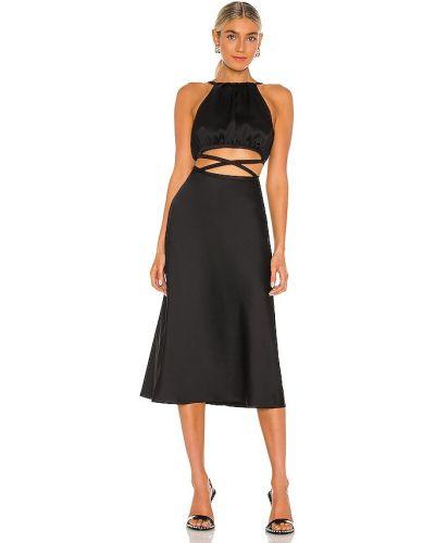 Деловое черное платье с подкладкой Misha Collection