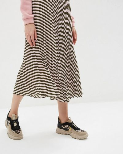 Плиссированная юбка розовая Befree
