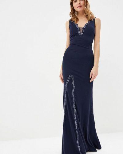 Вечернее платье весеннее синее Soky & Soka